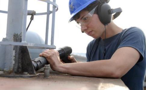 USS Blue Ridge maintenance